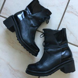 Robert Clergerie 37 B 6.5 US Boots Black Leather